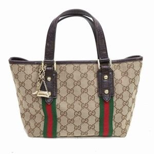 Auth Gucci Light Brown Canvas Hand Bag #861G13